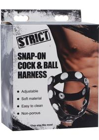 Strict Snap On Cock And Ball Harness