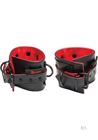 Kink Leather Submissive Ankle Restraints