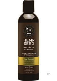 Hemp Seed Glow Oil Nag Champa 8 Oz