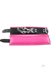 Rouge Padded Wrist Cuffs Black/pink