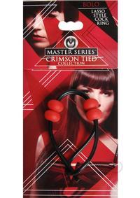 Ms Crimson Tied Bolo Lasso Style Cring