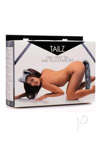 Tailz Grey Wolf Tail And Ears Set