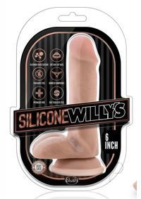 Sw Dildo W/balls 6 Vanilla