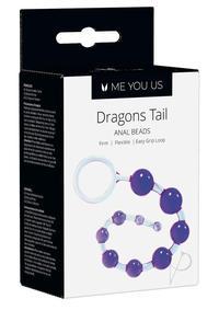 Kinx Dragons Tail Anal Beads Violet Os
