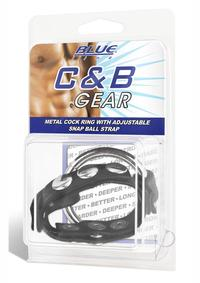 Cb Gear Metal Cock Ring W/ball Strap