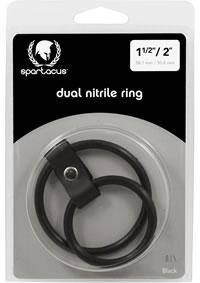 Black Nitrile Dual Cock Ring