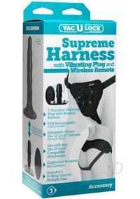 Vac U Lock Supreme Harness W/ Vibe Plug