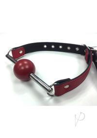 Rouge Ball Gag W/stainless Steel Rod Red