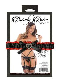 Barely B Strappy Garter and Panty Black