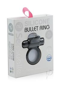 Sensuelle Silicone Bullet Ring 7x Blk