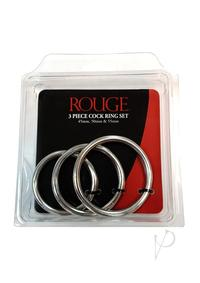 Rouge Cock Ring Set Stainless 3pc