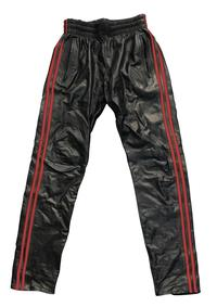 Prowler Red Leather Joggers Red Lg