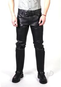 Prowler Red Leather Jeans Blk 28