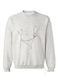 V - Desire Grey Sweatshirt Sm