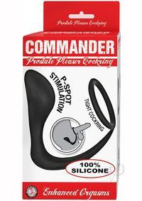 Commander Prostate Pleaser Cring Blk