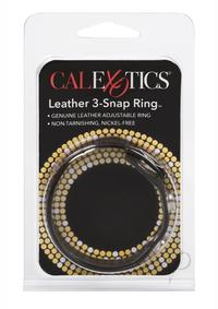 Black Leather Cock Ring