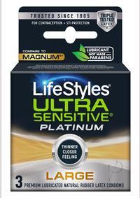 Lifestyles Sensitive Platinum Large 3`s