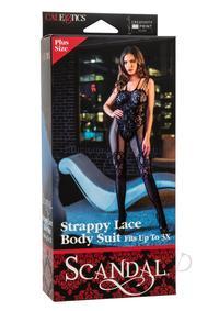 Scandal Strappy Lace Body Plus Sz Black