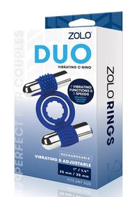 Zolo Recharge Duo Vibe Cock Ring Navy