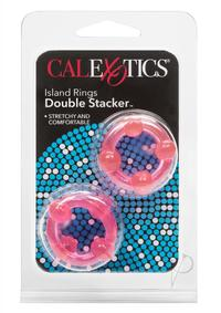 Island Rings Double Stack Pink