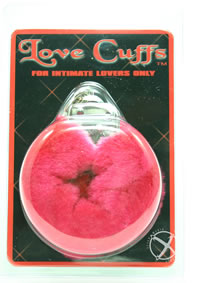Plush Love Cuffs Red