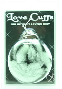 Plush Love Cuffs - Zebra