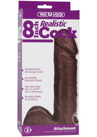 Vac U Lock 8 Realistic Black Cock